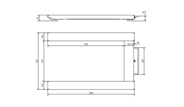Flintab-Palettenwaage-Standard-Stahl-Zeichnung